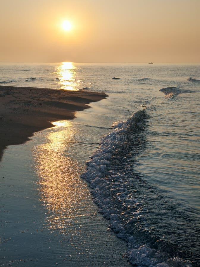brzasku ścieżki morza światło słoneczne fotografia royalty free
