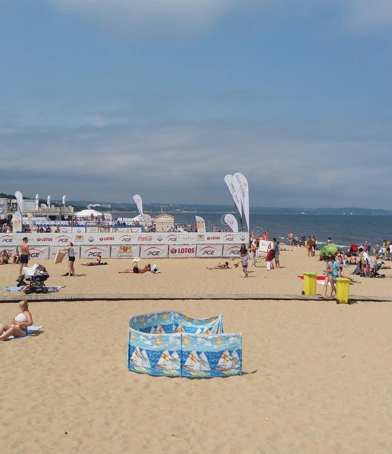Brzeźno Piaskowata plaża zdjęcie royalty free