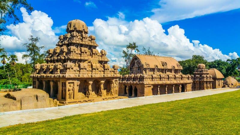 Brzeg świątynia w Mahabhalipuram zdjęcie royalty free