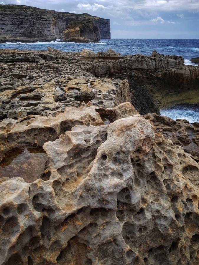 Brzeg Gozo, Malta zdjęcia stock
