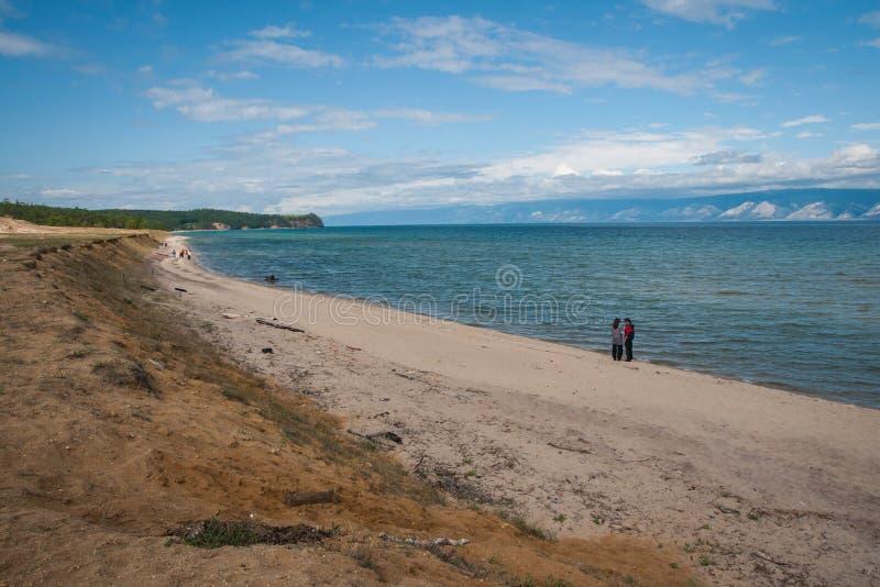 Brzeg jeziorny Baikal, Olkhon, Rosja zdjęcia stock