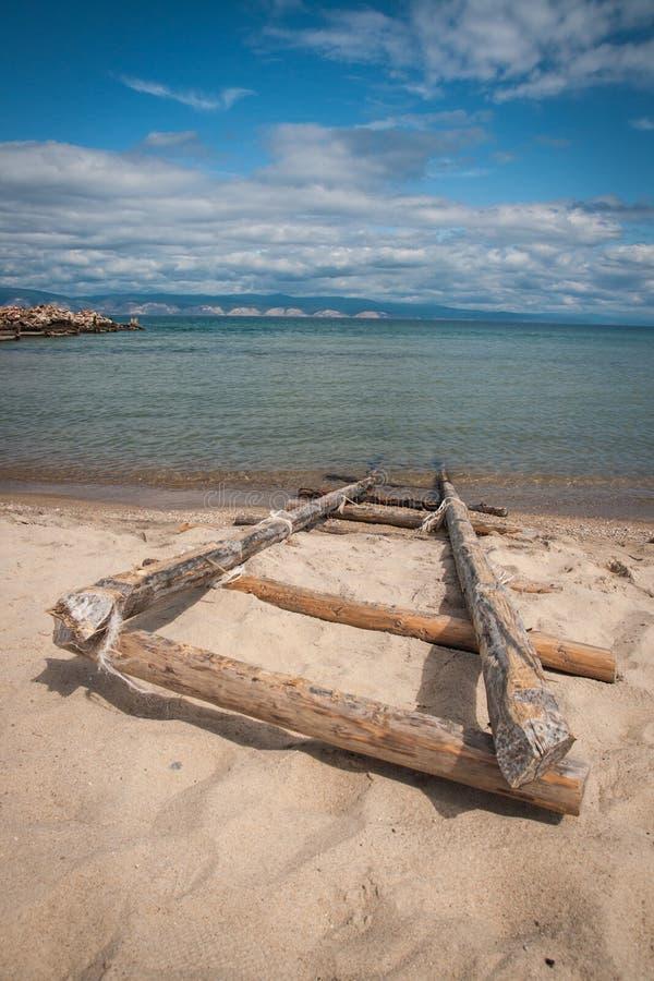 Brzeg jeziorny Baikal, Olkhon, Rosja obraz stock