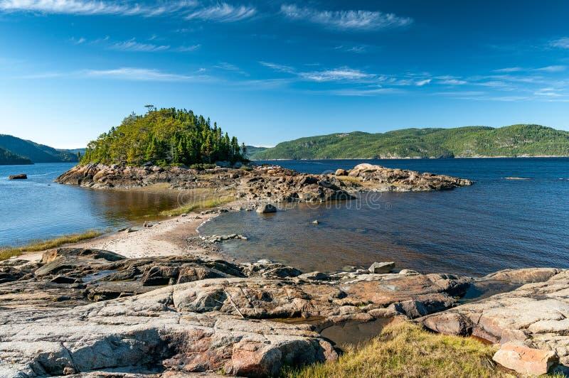 Brzeg Saguenay Fjord obraz stock