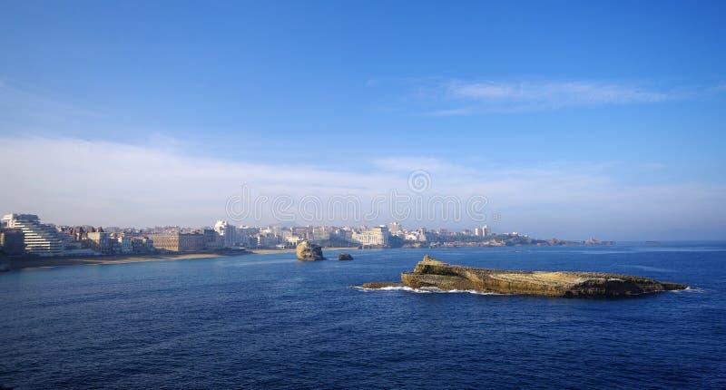 brzegowa Biarritz panorama obrazy royalty free