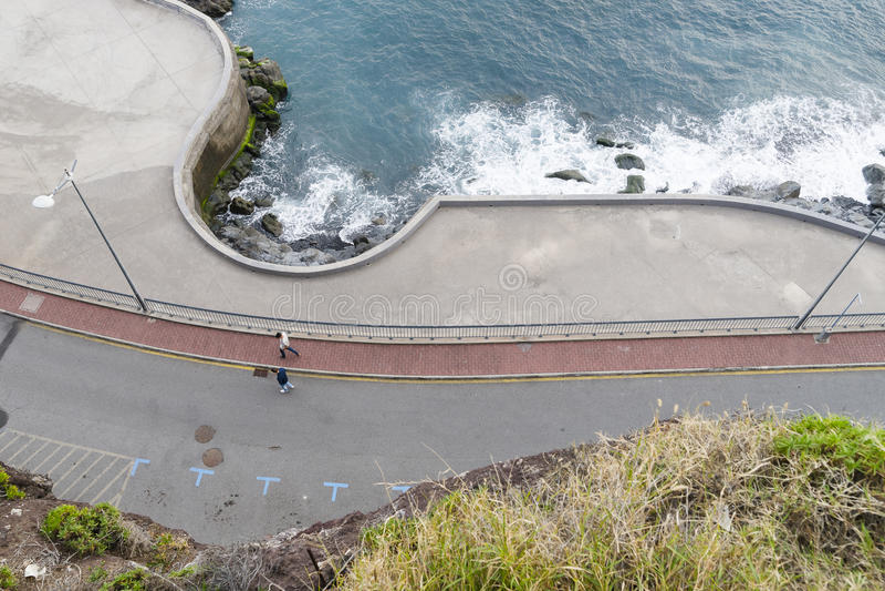 Brzegowa linia w Camara De Lobos obrazy stock