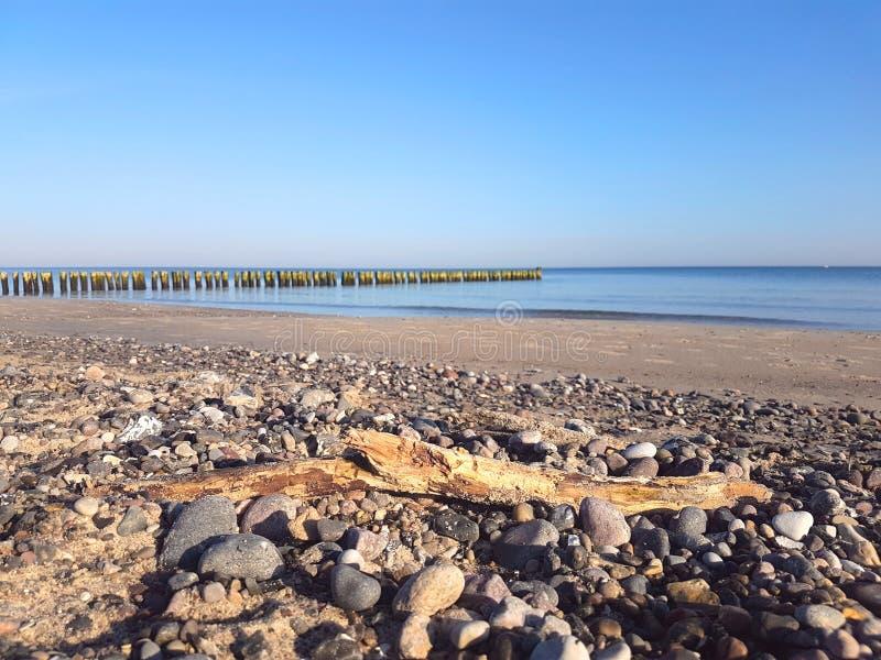 Brzegowa ochrona przy morzem bałtyckim obrazy stock
