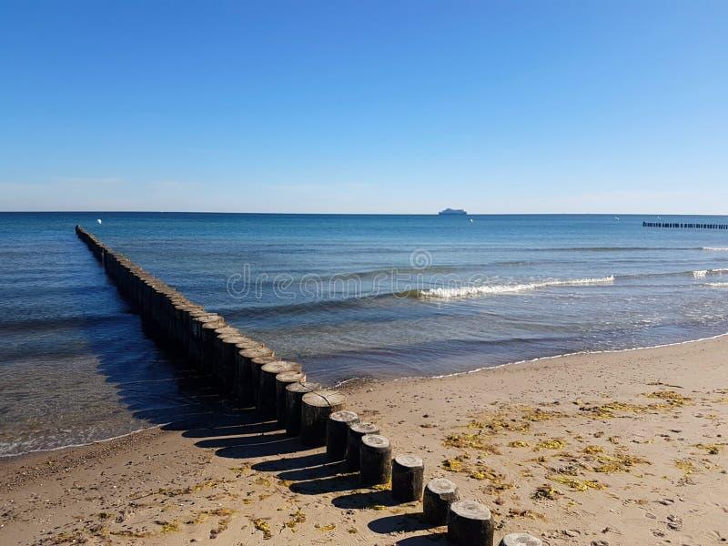 Brzegowa ochrona przy morzem bałtyckim zdjęcie stock
