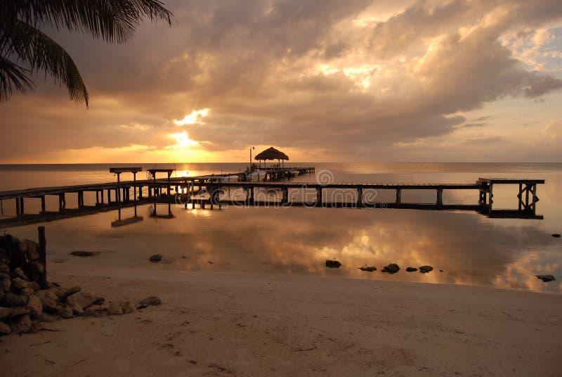 brzegowy Belize wschód słońca obrazy royalty free