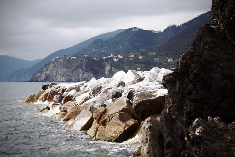 brzegowy kreskowy panoramiczny widok zdjęcia stock