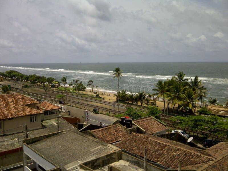 Brzegowy kreskowy widoku balkon fotografia royalty free