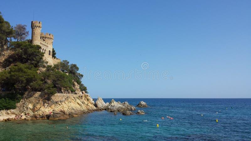 Brzegowy Lloret De Mar, Costa Brava, Hiszpania obrazy stock