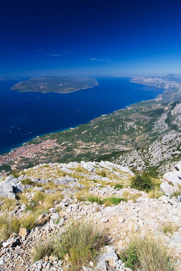 brzegowy makarska Riviera obraz royalty free