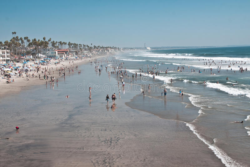Brzegowy San Diego Miasto zdjęcia royalty free
