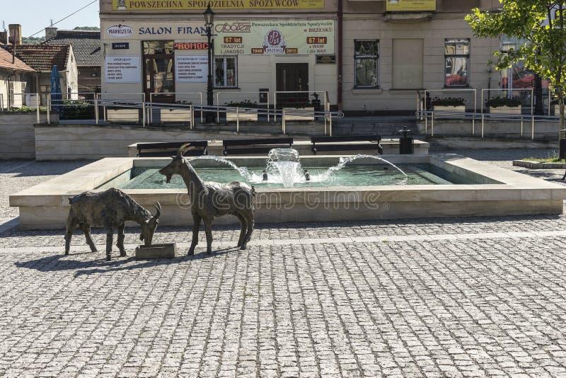 Brzesko City in Poland royalty free stock image