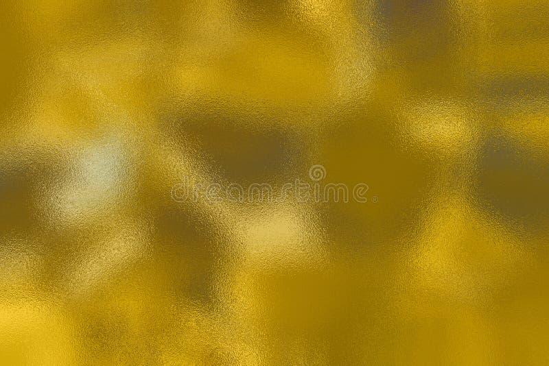 Brzmienia złoto i kolor żółty rozprzestrzeniający szkło textured tło zdjęcie stock