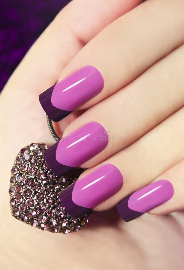 Brzmienie Francuski manicure zdjęcia royalty free