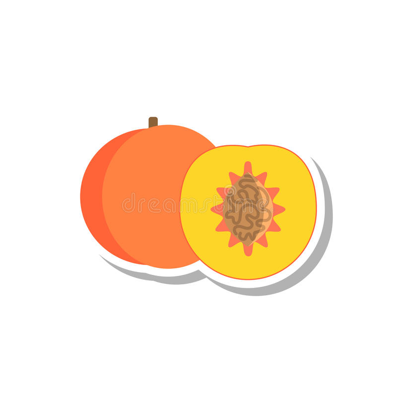 Brzoskwini ikona ilustracja wektor