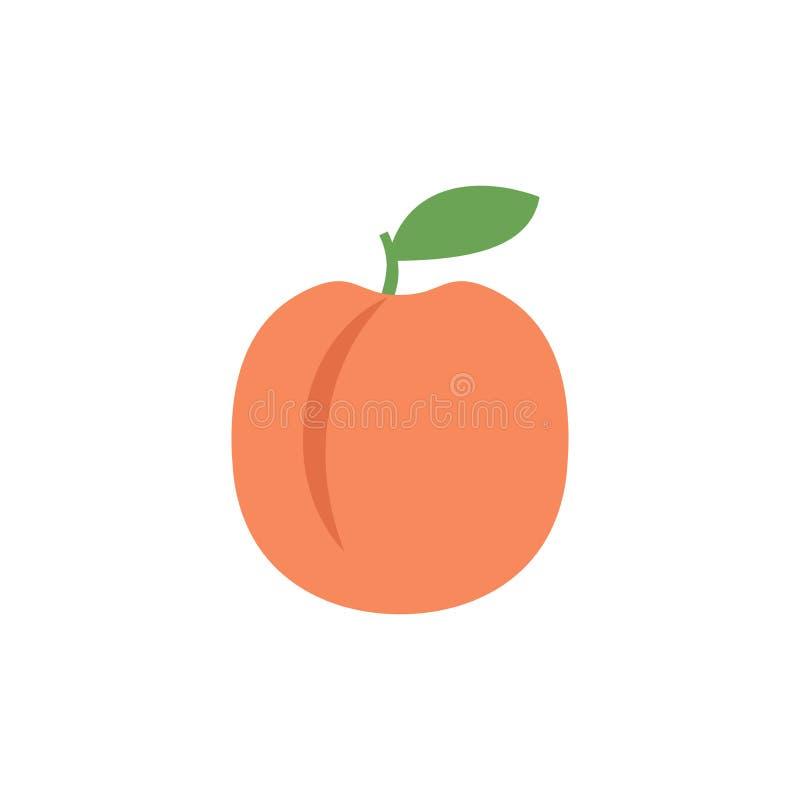 Brzoskwini ikona, prosty projekt, brzoskwini ikony klamerki sztuka royalty ilustracja