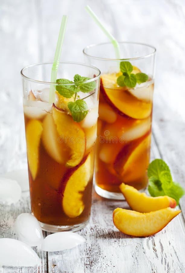 Brzoskwini lodowa herbata zdjęcie royalty free