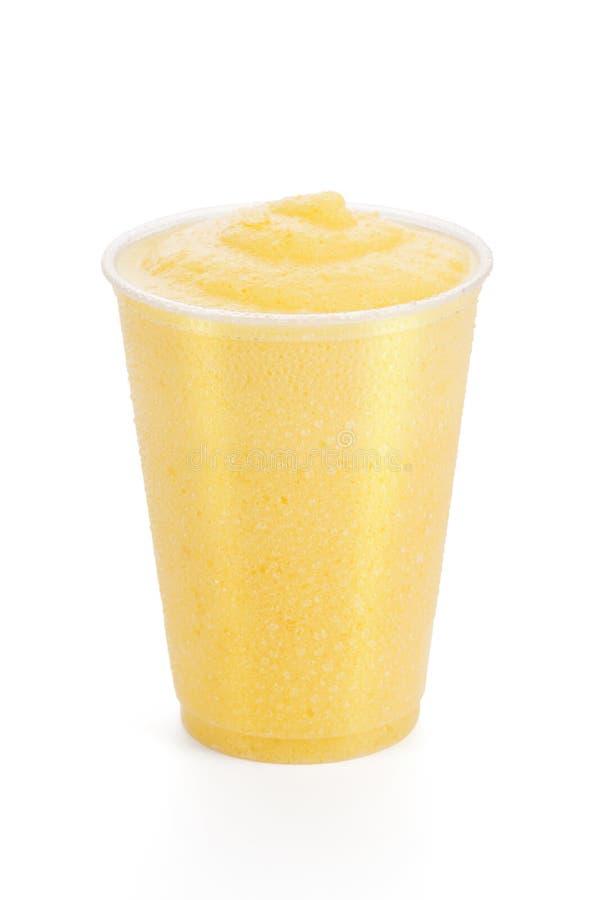 Brzoskwini lub mango Smoothie Slushie lub pomarańcze zdjęcia royalty free