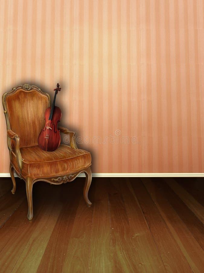 brzoskwinia muzyczny pokój royalty ilustracja