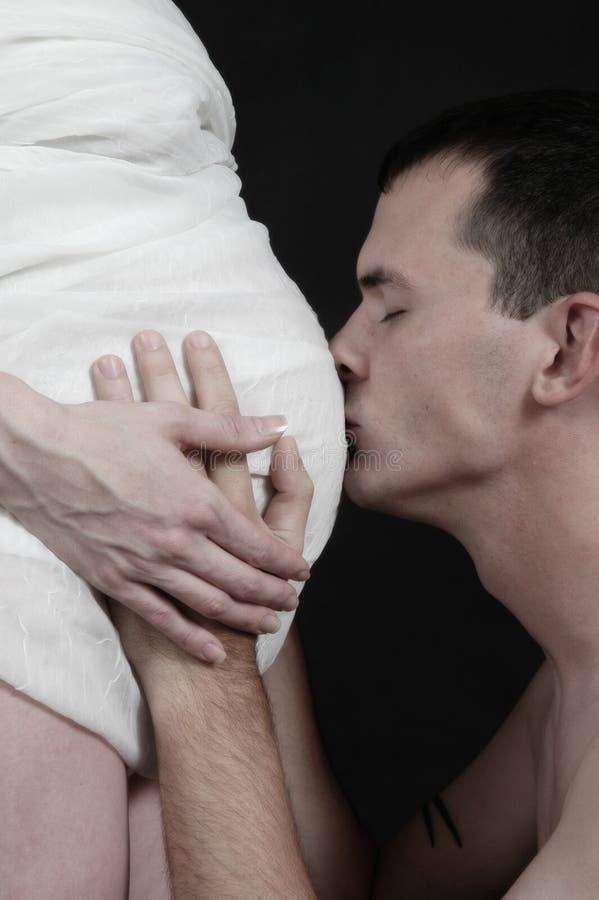 brzuch pocałunek zdjęcia royalty free