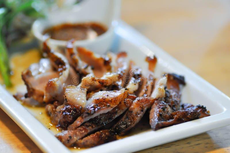 Brzuch wieprzowina, piec na grillu wieprzowina lub piec wieprzowina, obraz stock