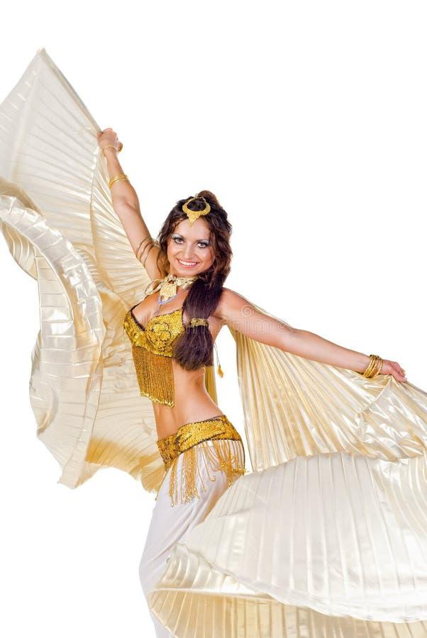 brzucha tancerza srebra skrzydła fotografia royalty free