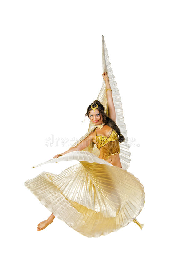 brzucha tancerza srebra skrzydła zdjęcia royalty free