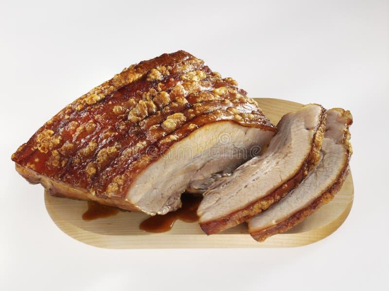 brzucha wieprzowiny pieczeń obraz stock