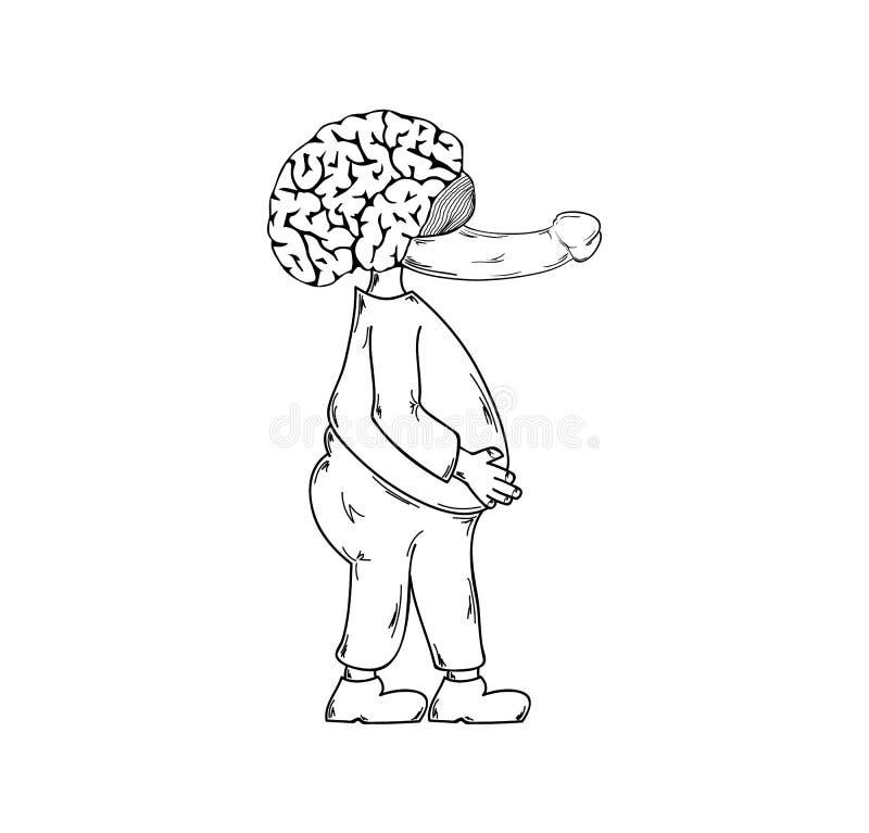 Brzydka istota z penisa nosem ilustracji