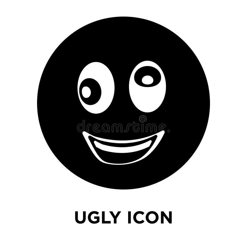 Brzydki ikona wektor odizolowywający na białym tle, loga U pojęcie royalty ilustracja