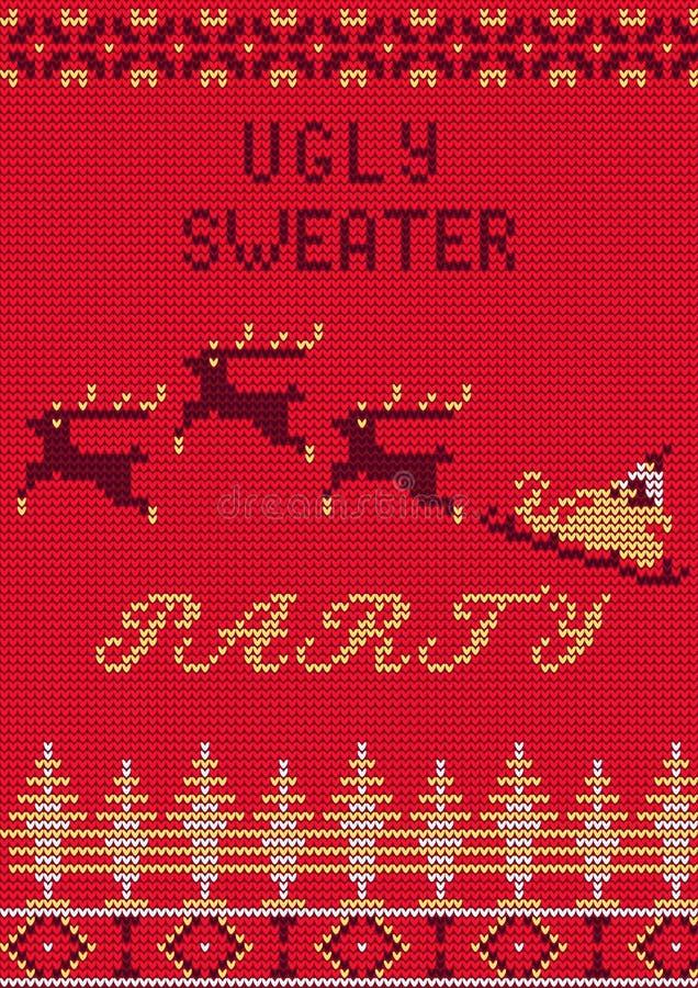 Brzydki puloweru przyjęcie ilustracji