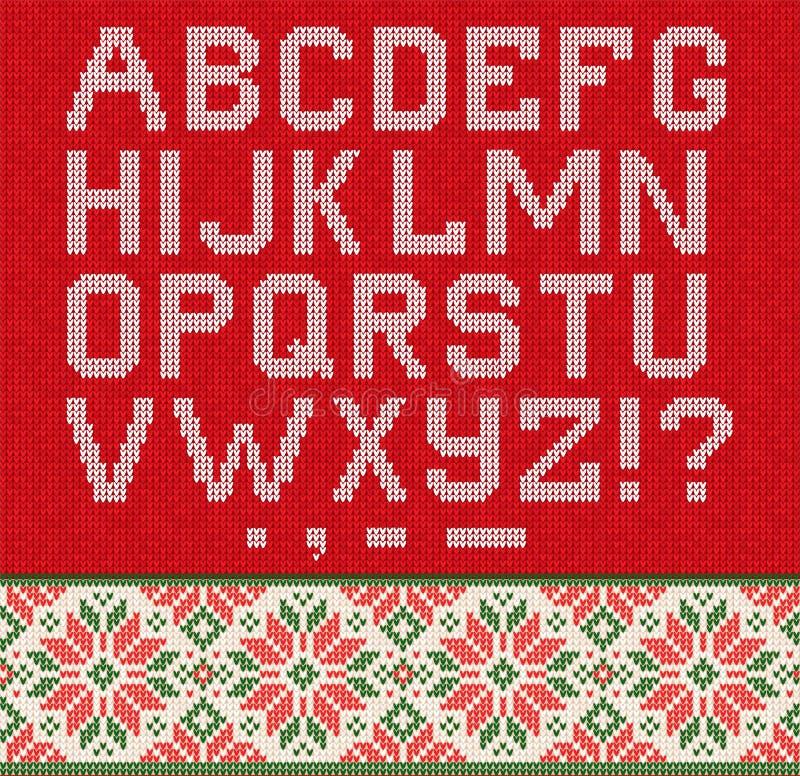 Brzydki puloweru sezonu zimy sprzedaży plakat Trykotowi tło wzoru scandinavian ornamenty royalty ilustracja
