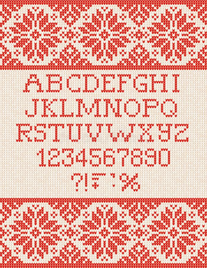 Brzydki puloweru sezonu zimy sprzedaży plakat Trykotowi tło wzoru scandinavian ornamenty ilustracji