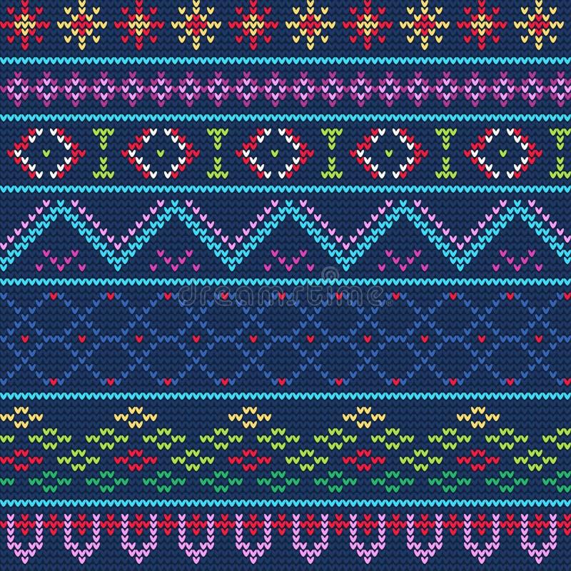 Brzydki puloweru wzór 1 ilustracja wektor