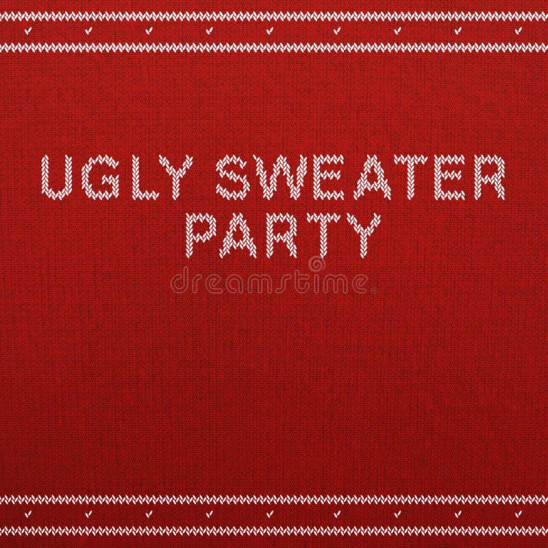 Brzydkiego puloweru przyjęcia zaproszenia Pusty szablon obraz royalty free