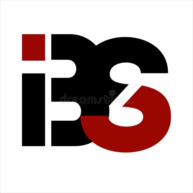 BS, логотип компании письма инициалов BIS IBS иллюстрация вектора
