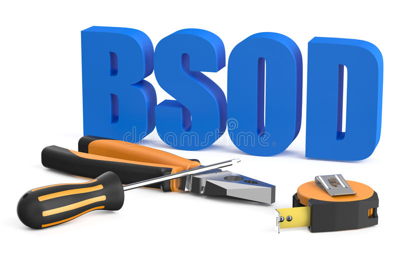 BsOD service concept royalty free stock photo