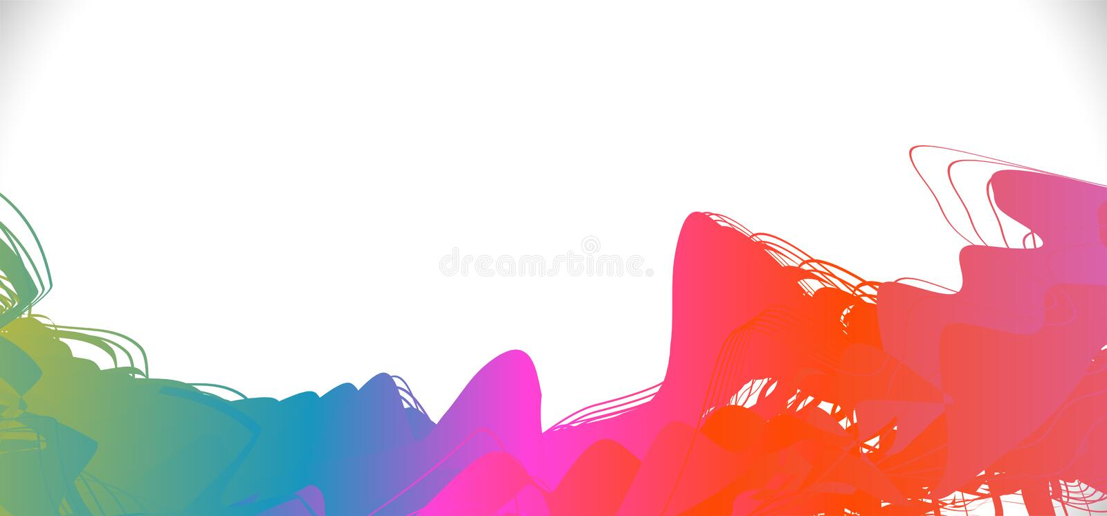 Bstract colorful brush stroke on border and space background, Vector. Illustration vector illustration