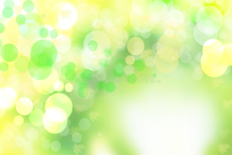 Bstract colorful gradient yellow green bokeh lights background t. Exture royalty free illustration