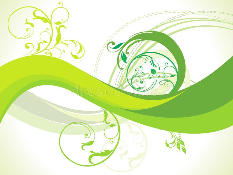 Bstract floral with wave vector. Illustration royalty free illustration