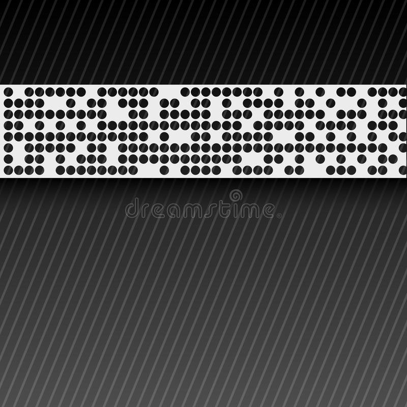 Bstract perforated paper tape. EPS10 royalty free illustration