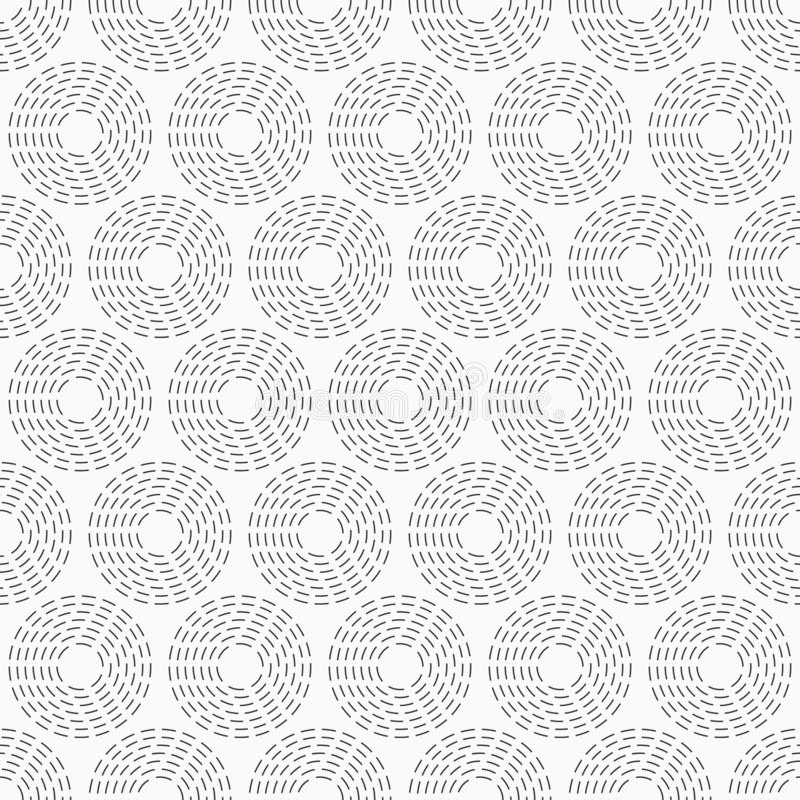 Bstract seamless pattern of dotted circles. Repeating geometric tiles. Modern stylish geometric texture. Abstract seamless pattern of dotted circles. Repeating royalty free illustration