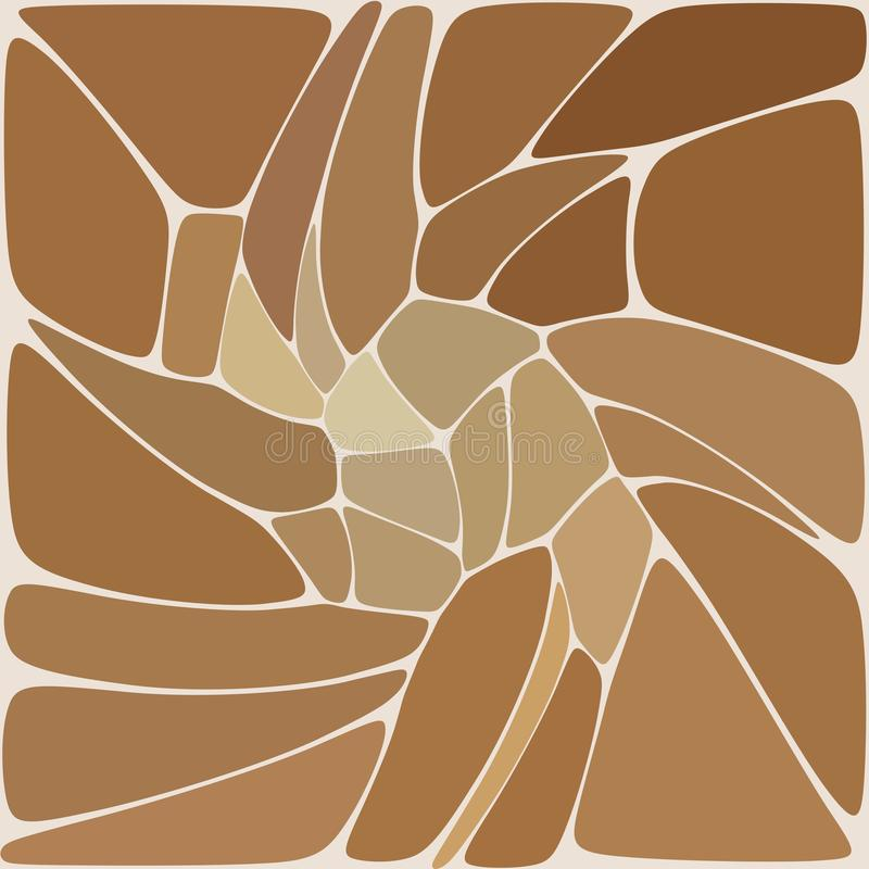 Bstract vector pattern of pebbles. Isolated from the brown background - Vektorgrafik. Bstract vector pattern of pebbles. Isolated from the brown background stock illustration