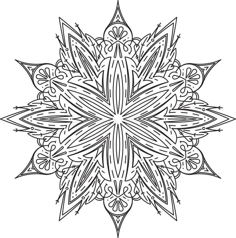 Bstract vector round lace design - mandala, decorative element.  stock illustration