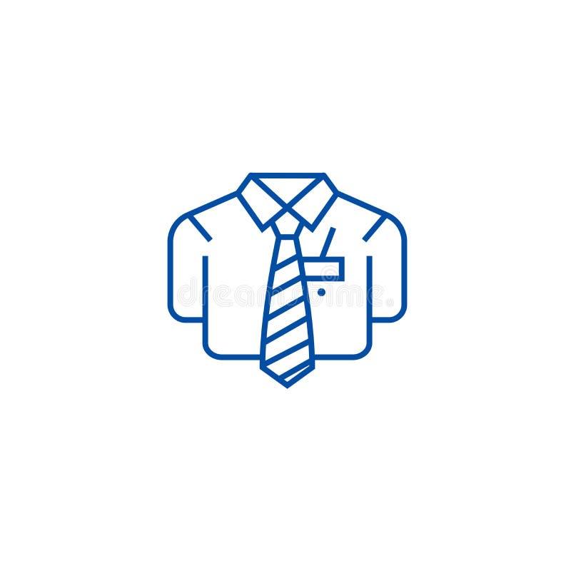 Bsuiness koszula linii ikony przypadkowy pojęcie Bsuiness przypadkowy koszulowy płaski wektorowy symbol, znak, kontur ilustracja ilustracja wektor