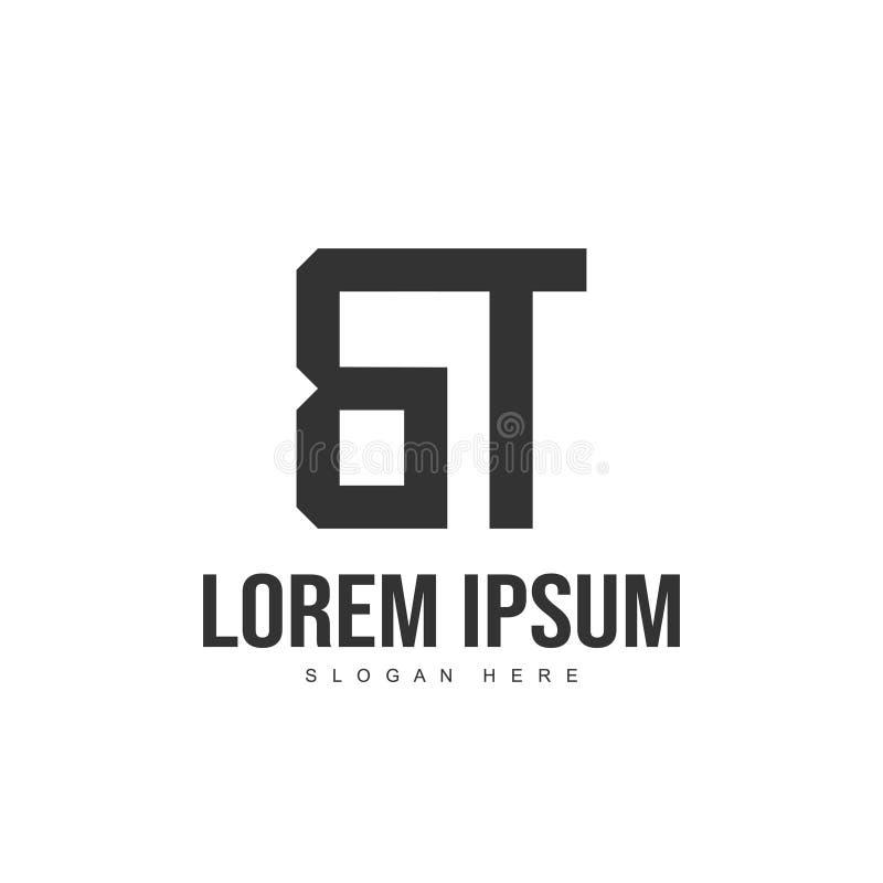 Initial Logo Design Bt Stock Vector. Illustration Of Black