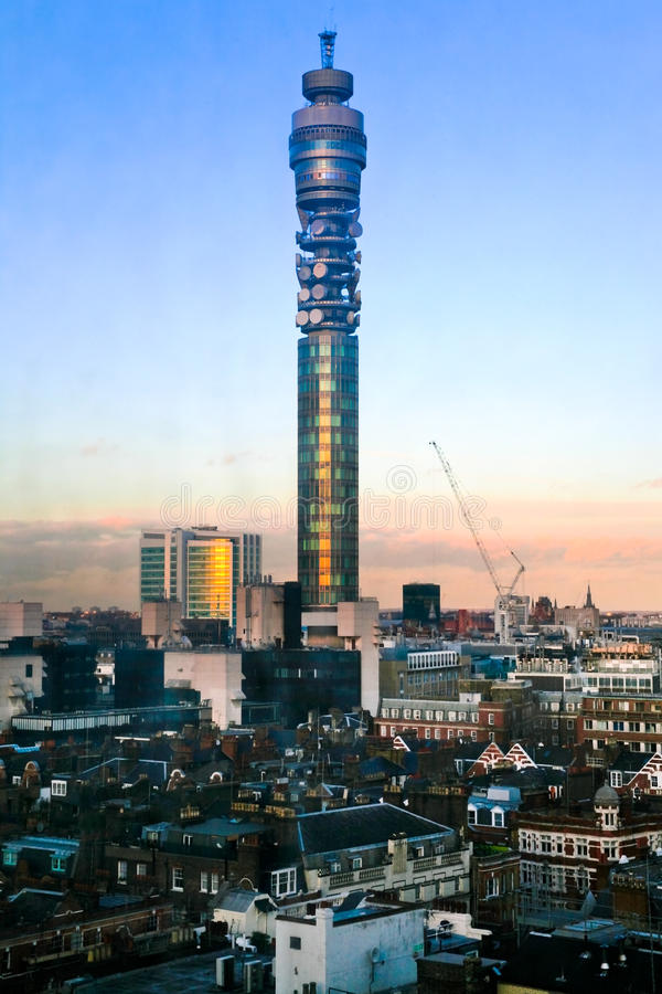 BT telecommunications tower in London