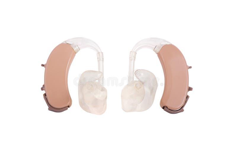 BTE-hörapparater med banakurvor arkivbild